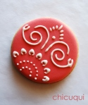 Decoración con stencil para tartas galletas decoradas chicuqui.com