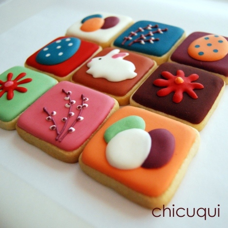 Galletas de Pascua decoradas Easter decorated cookies chicuqui.com