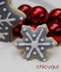 Navidad copo de nieve gris galletas decoradas chicuqui.com