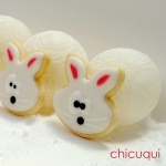 Pascua galletas decoradas conejitos Easter bunny decorated cookies chicuqui.com