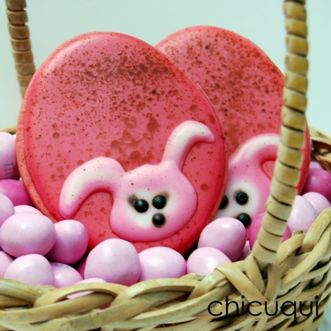 Pascua galletas decoradas huevos rosas Easter decorated cookies chicuqui.com