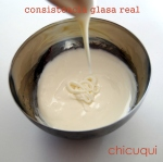 Receta consistencia glasa real royal icing chicuqui.com