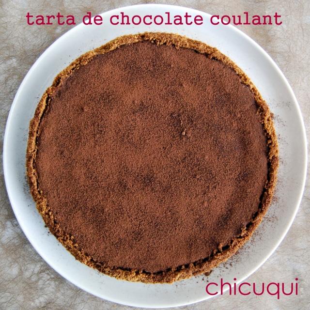 receta de tarta de chocolate coulant en galletas decoradas chicuqui.com