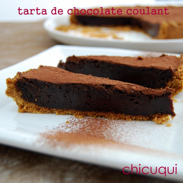 receta de tarta de chocolate coulant en galletas decoradas chicuqui.com