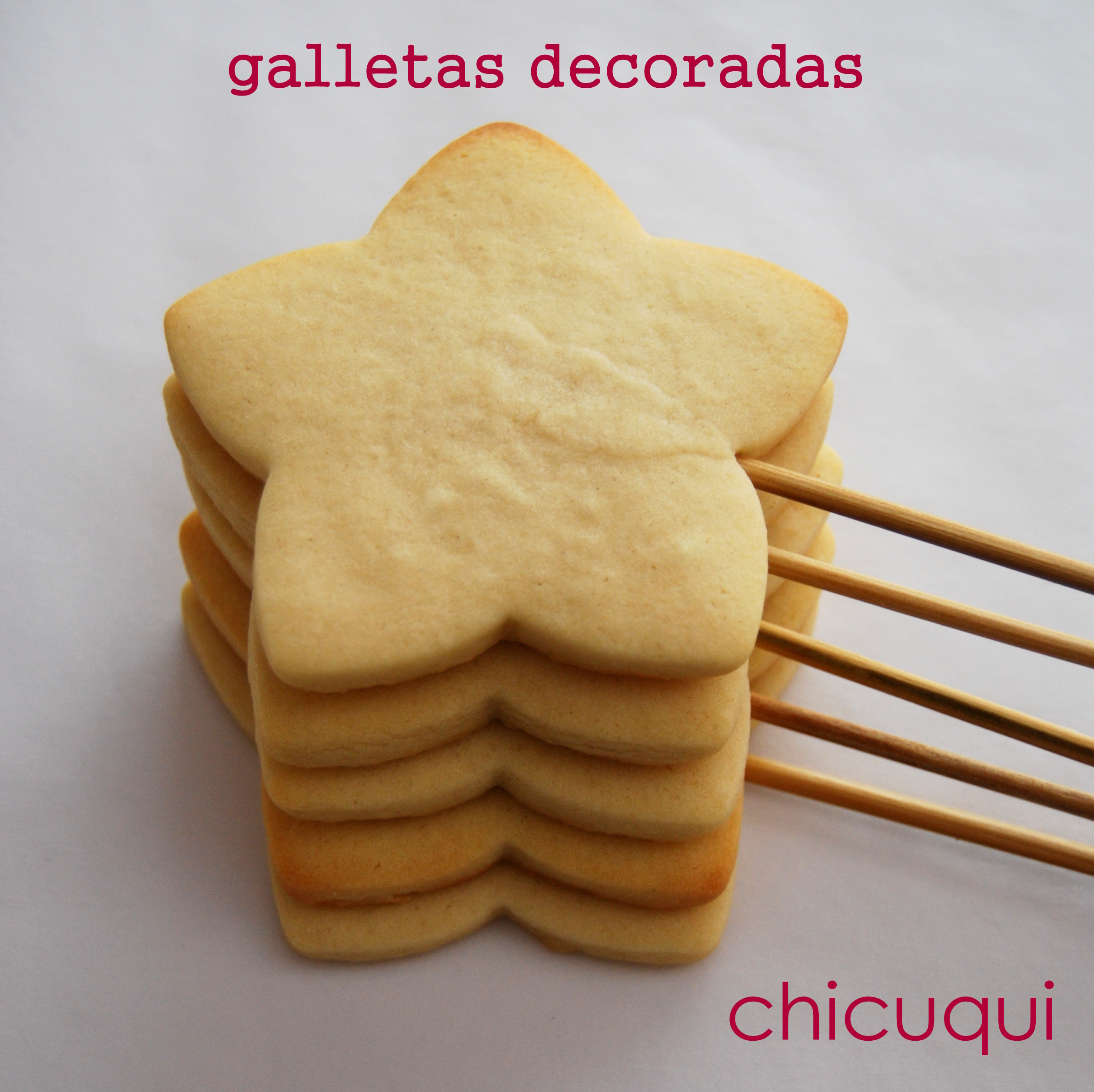 Receta de galletas decoradas