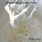 Receta glasa reyal royal icing chicuqui.com