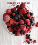 Receta helado frutos del bosque en chicuqui.com