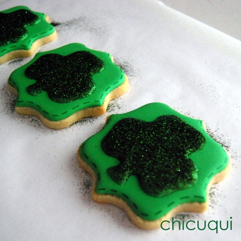 San Patricio galletas decoradas Saint Patrick decorated cookies chicuqui.com