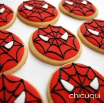 Spiderman galletas decoradas chicuqui.com