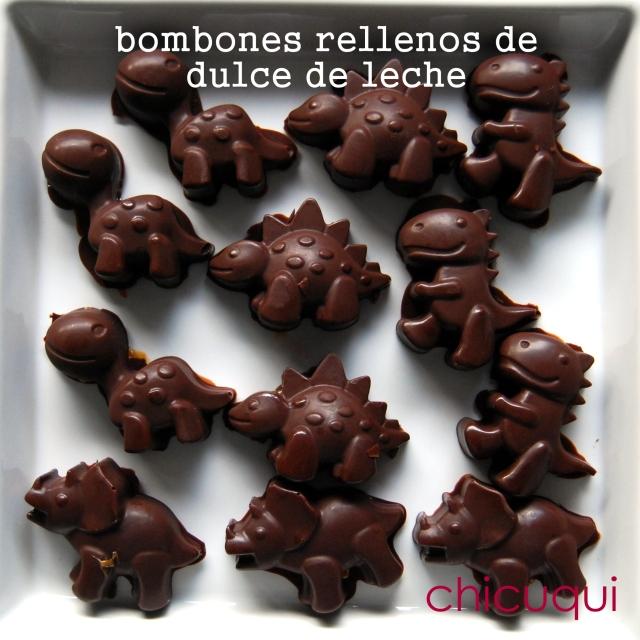 Bombones rellenos de dulce de leche en galletas decoradas chicuqui.com
