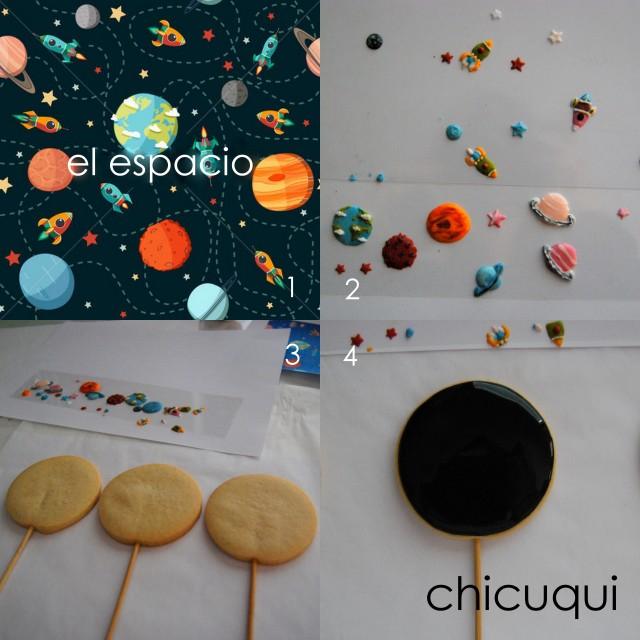 el espacio en galletas decoradas chicuqui.com