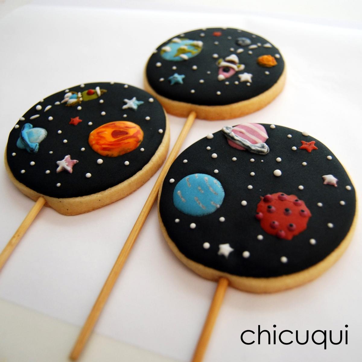 El espacio, en galletas decoradas