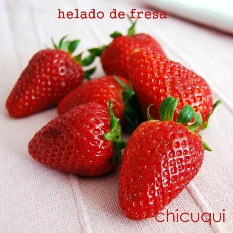 Receta de helado de fresa en galletas decoradas chicuqui.com