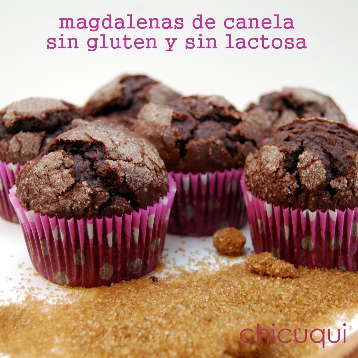 Magdalenas de canela sin gluten, sin lactosa y buenísimas!