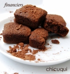 Receta financiers de chocolate en galletas decoradas chicuqui.com