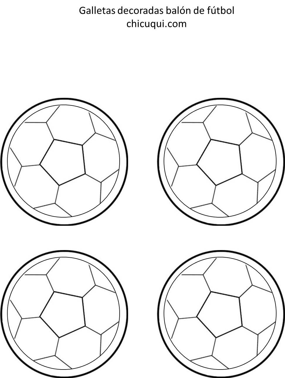 Un balón de futbol, en galletas decoradas   chicuqui