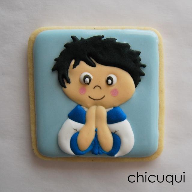 Comunión galletas decoradas niño chicuqui.com