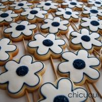 Flores, en galletas decoradas para una Comunión