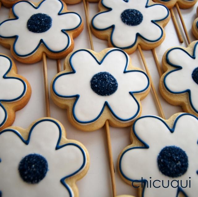 Comunión niño flores galletas decoradas chicuqui.com