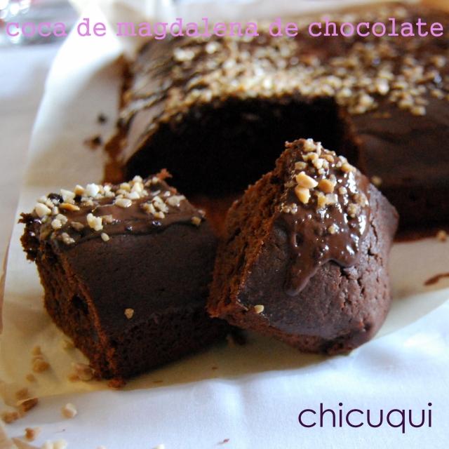 receta de coca de magdalena de chocolate en galletas decoradas chicuqui.com