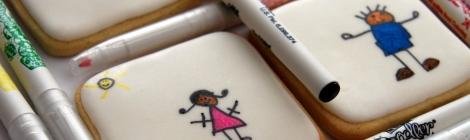 galletas decoradas con niños verano playa chicuqui.com