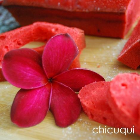 receta de bizcocho de yogur para San Valentín chicuqui.com