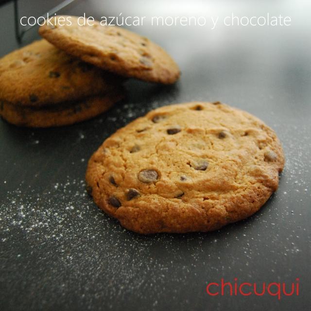 Receta de cookies de azúcar moreno y chocolate chicuqui.com