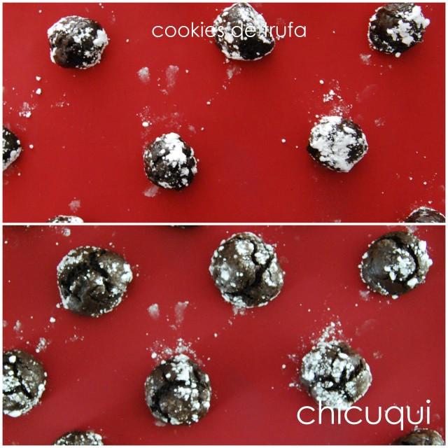 receta de cookies de trufa chocolate recipe truffle dough cookies chicuqui.com