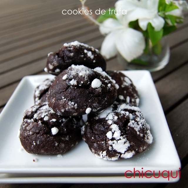 receta de cookies de trufa chocolate recipe truffle dough cookies chicuqui.com