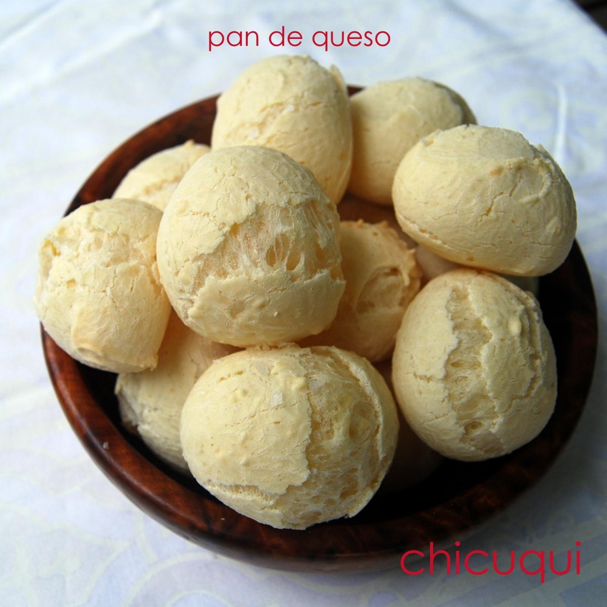 Receta de Pan de queso o Pao de Queijo